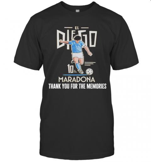 Diego Maradona El 10 Thank You For The Memories shirt Classic Men's