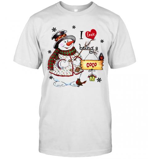 I Love Being A Coco Snowman Grandma shirt Classic Men's