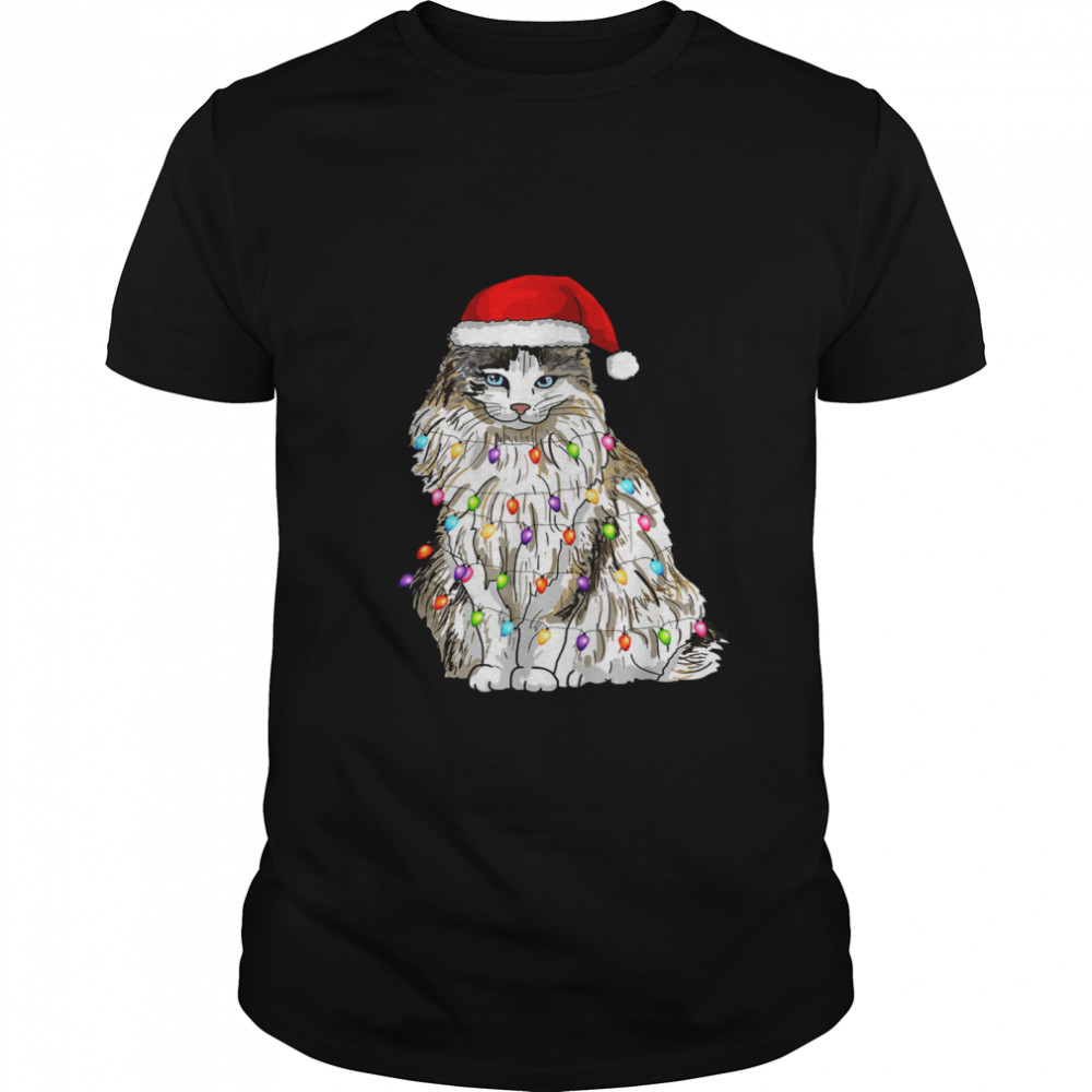 Ragdoll Cat Christmas Light shirt Classic Men's