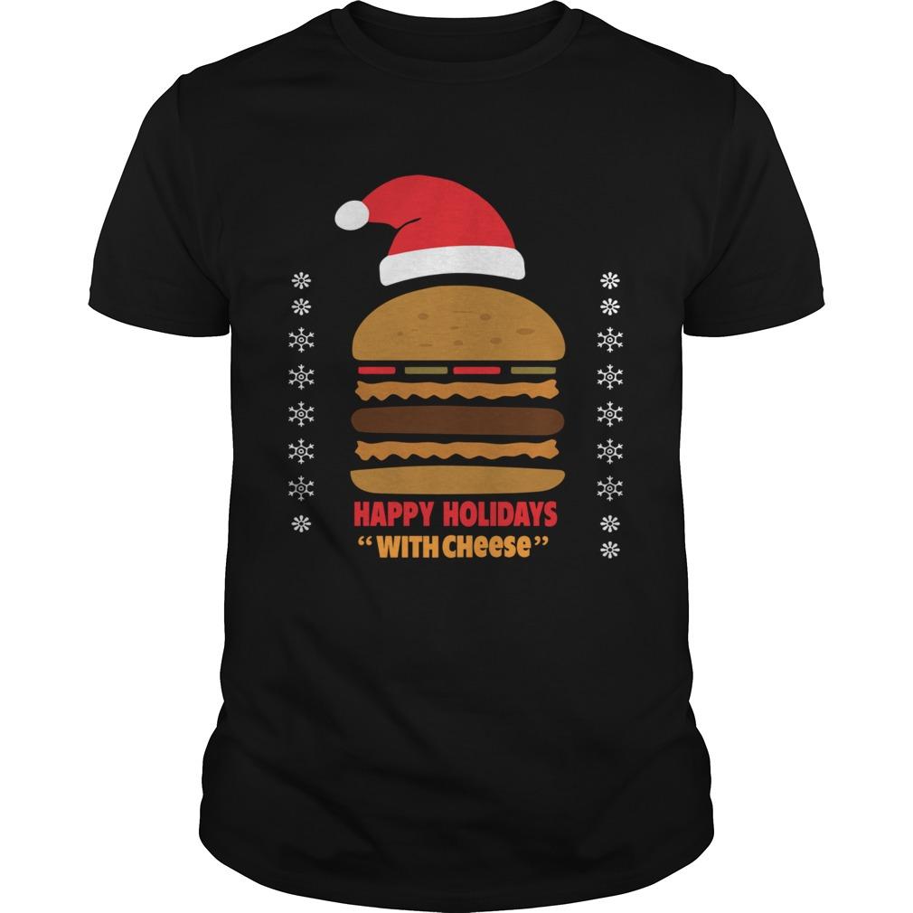 Samuel Jackson Happy Holidays With Cheese shirt Classic Men's