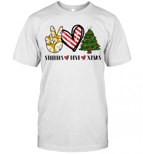 Steelers Love Xmas Christmas Tree Heart shirt Classic Men's