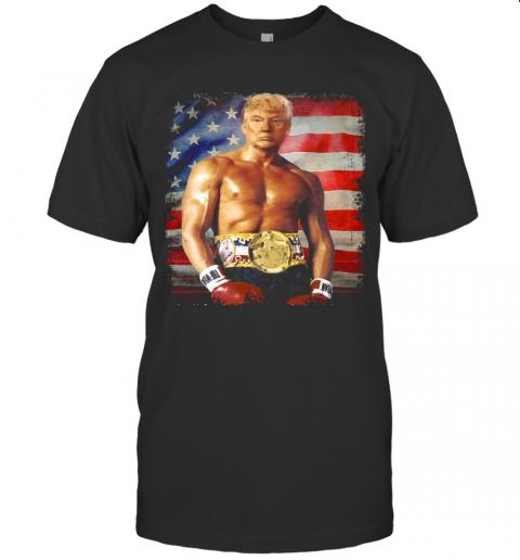 Trump Rocky Fighter American Flag shirt Classic Men's