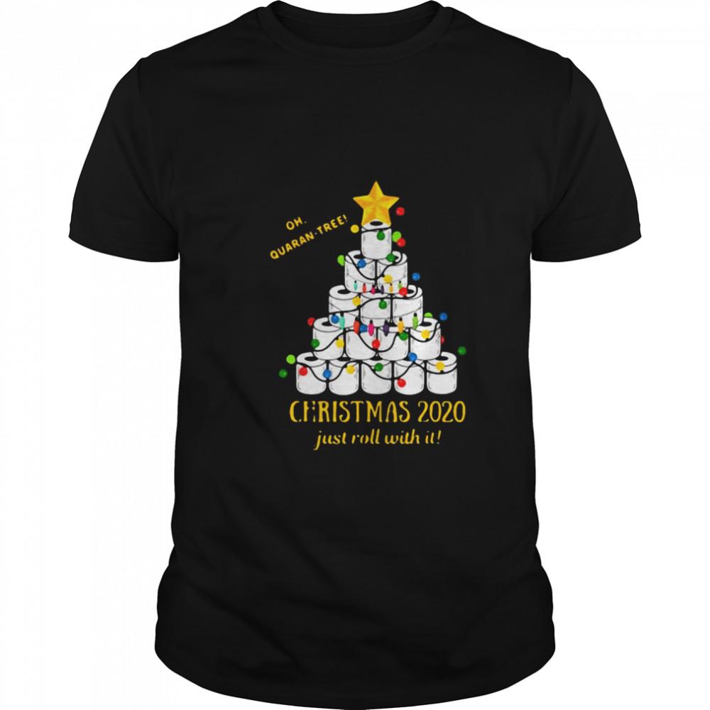 2020 Funny Quarantine Christmas Toilet Paper Tree shirt Classic Men's