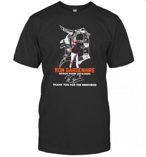 Ron Gardenhire Detroit Tigers 2018 2020 Thank You For The Memories Signature shirt Classic Men's