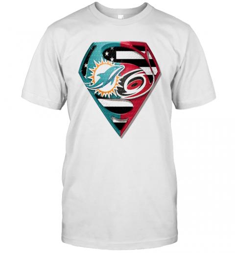 Superman Miami Dolphins Vs Carolina Hurricanes 2020 shirt Classic Men's