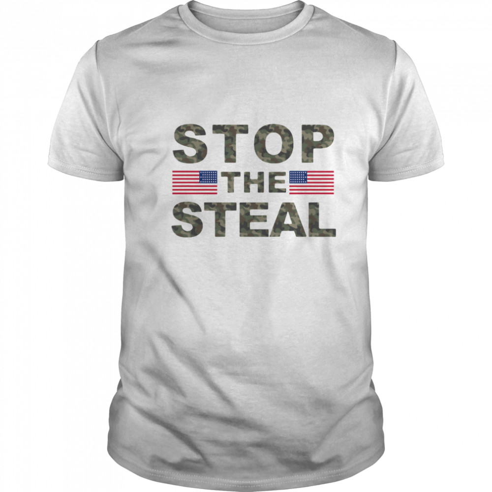 American Flag Stop The Steal shirt Classic Men's