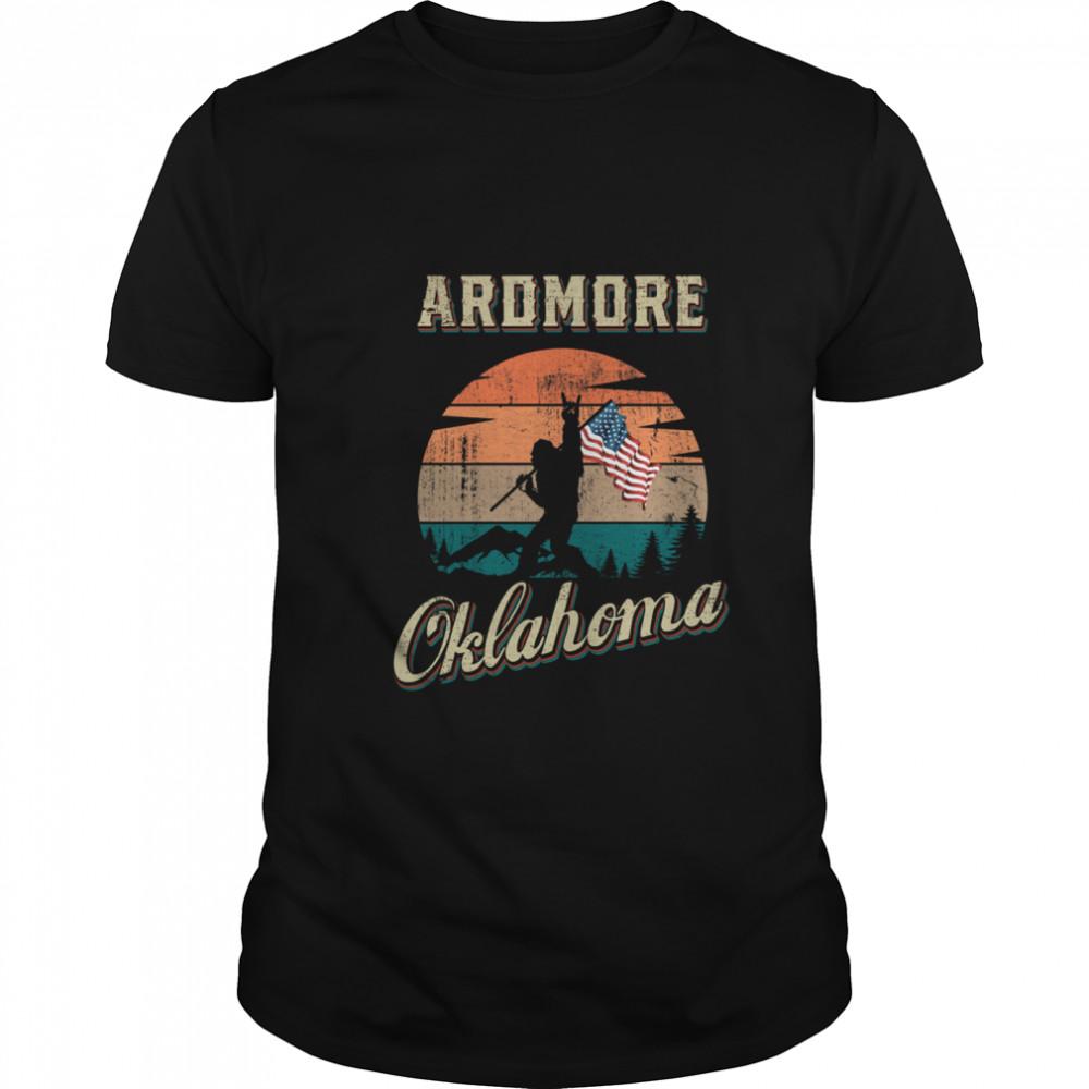 Ardmore Oklahoma Bigfoot Vintage American Flag shirt Classic Men's
