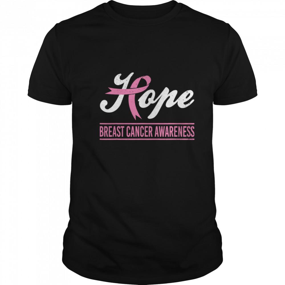 Hope Breast Cancer Awareness Survivor Pink Ribbon Support shirt Classic Men's