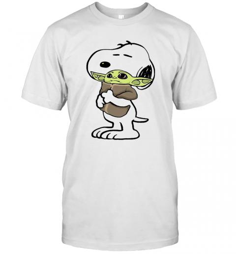 Snoopy Hug Baby Yoda shirt Classic Men's