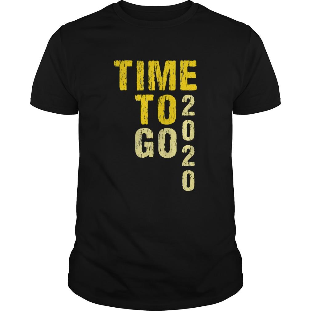 Time To Go 2020 Goodbye 2020 Hello 2021 Golden shirt Classic Men's