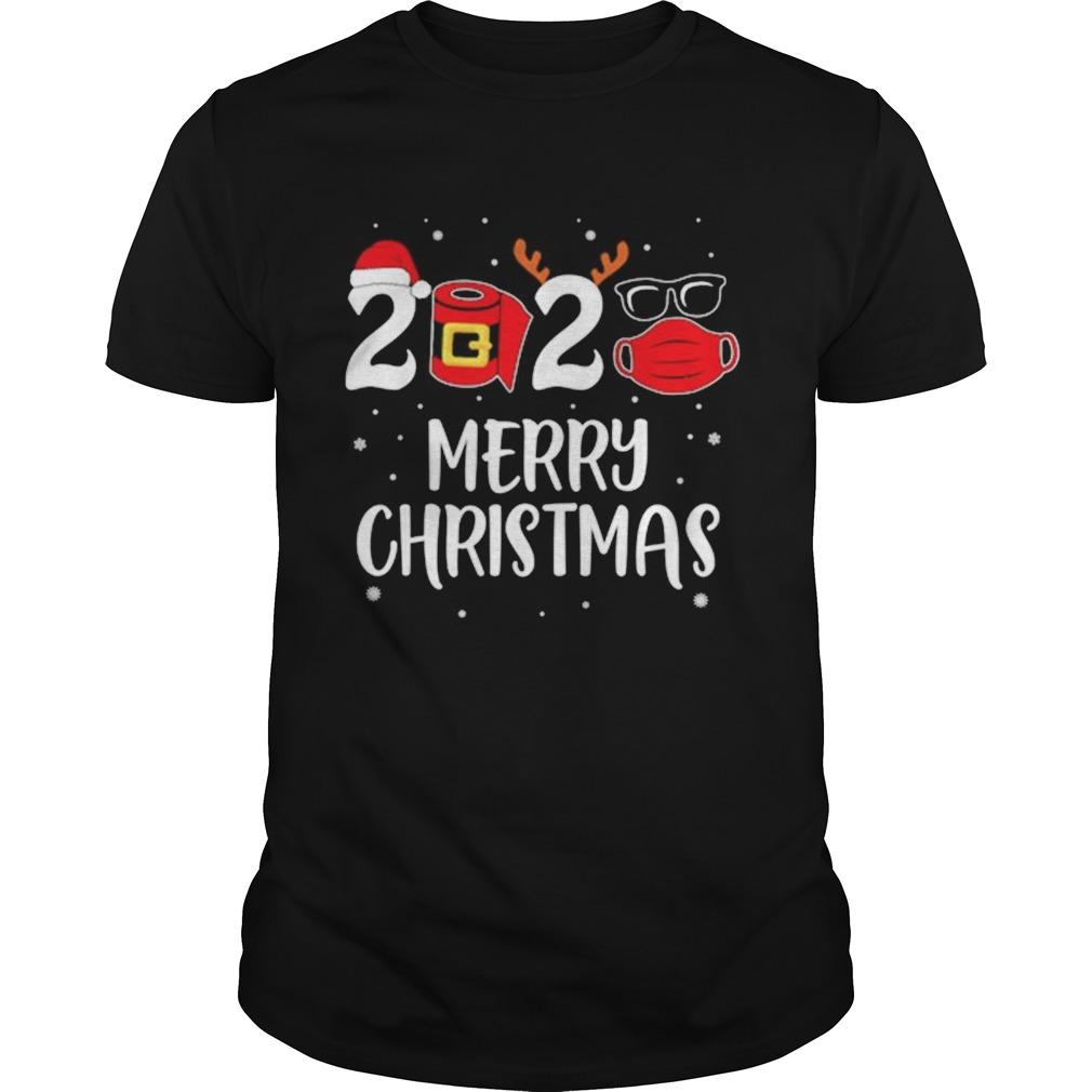 2020 Merry Christmas Santa Reindeer Face Mask shirt Classic Men's