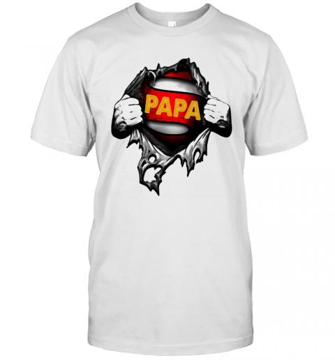 Blood Inside Me Superhero Papa shirt Classic Men's