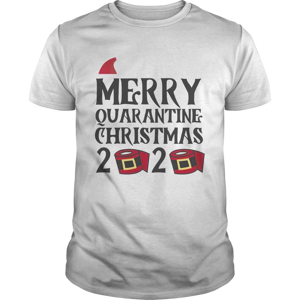 Merry Quarantine Christmas 2020 Hat Santa Clause shirt Classic Men's