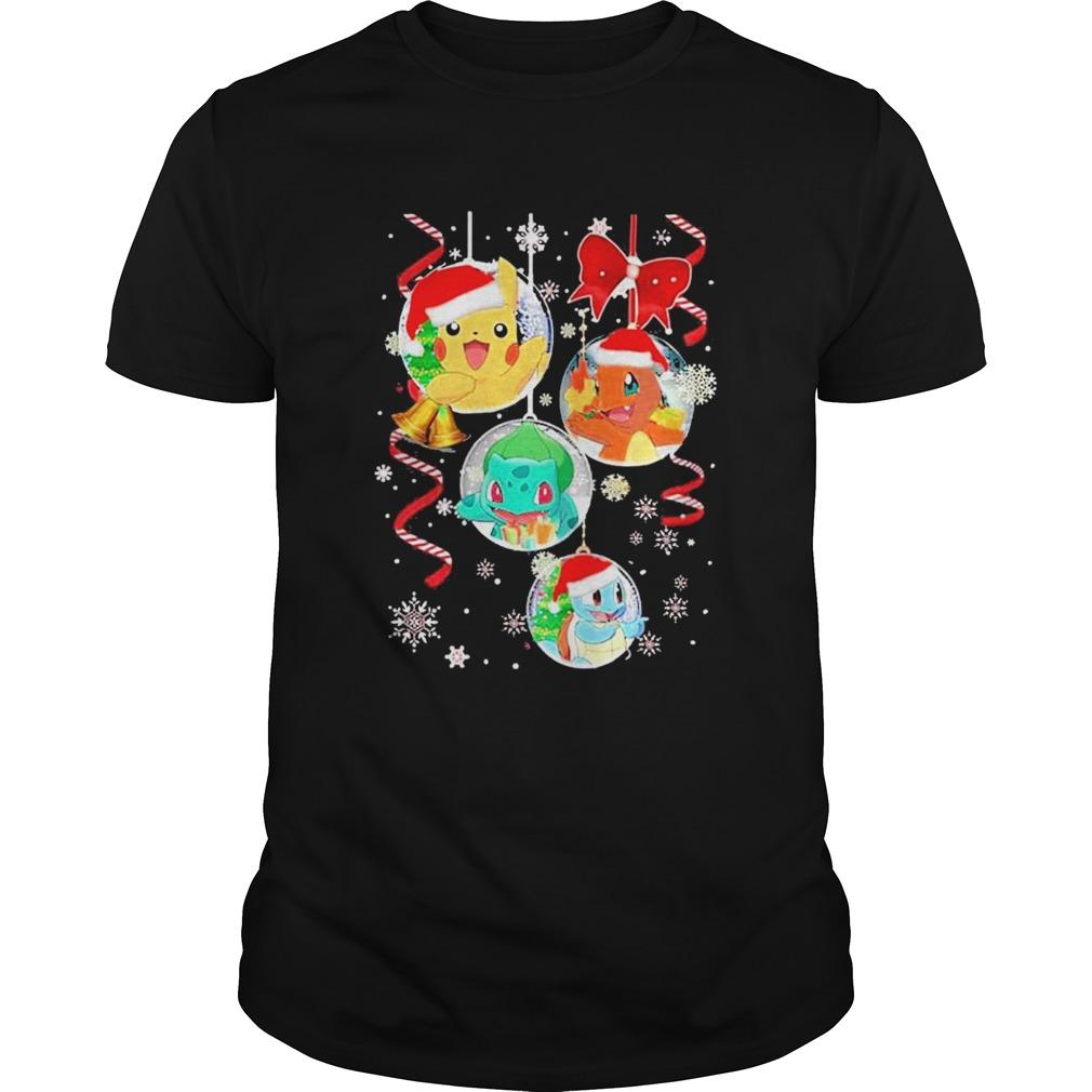 pokemon in bubbles christmas shirt Classic Men's
