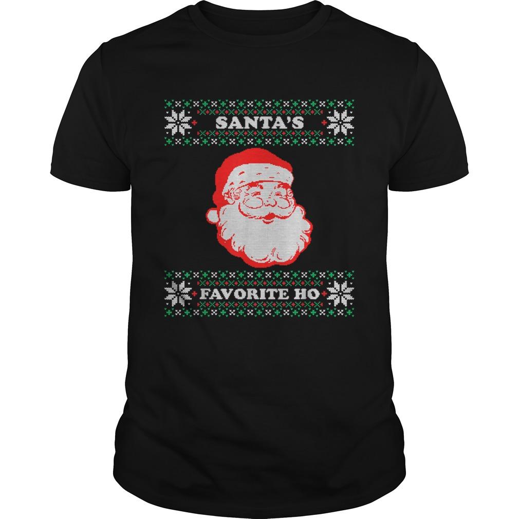 Santas Favorite Ho Inappropriate Ugly Christmas shirt Classic Men's