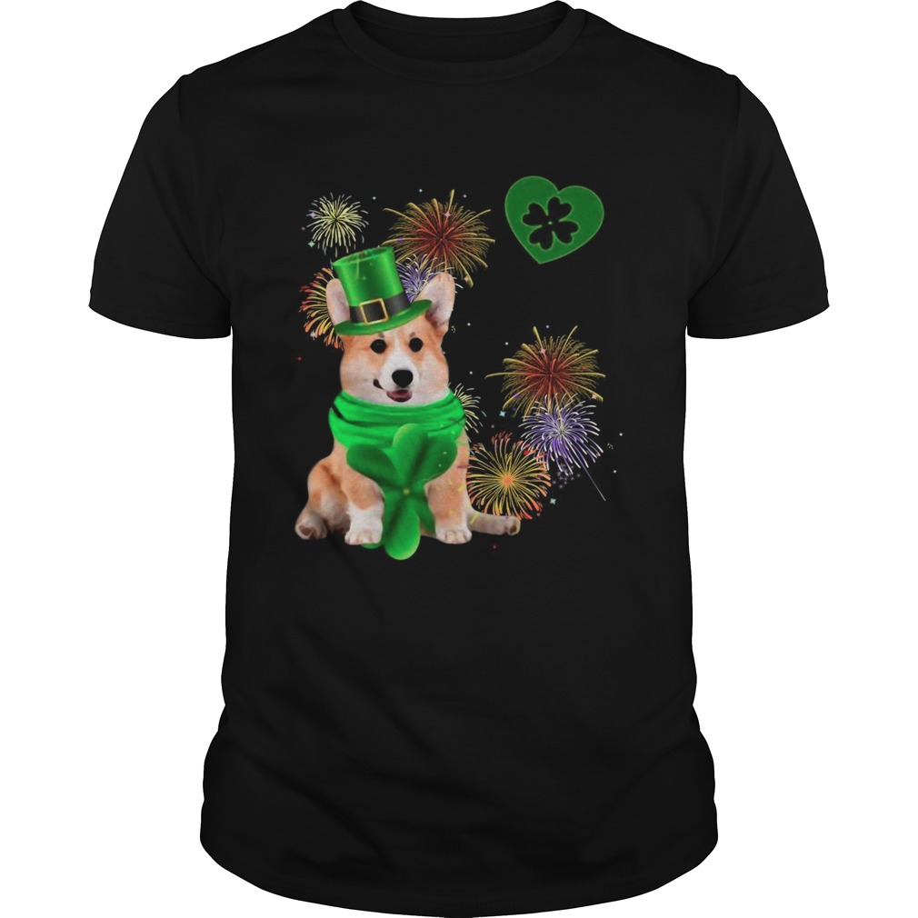 Corgi Dog Shamrock St Patrick Day Dog Irish shirt Classic Men's