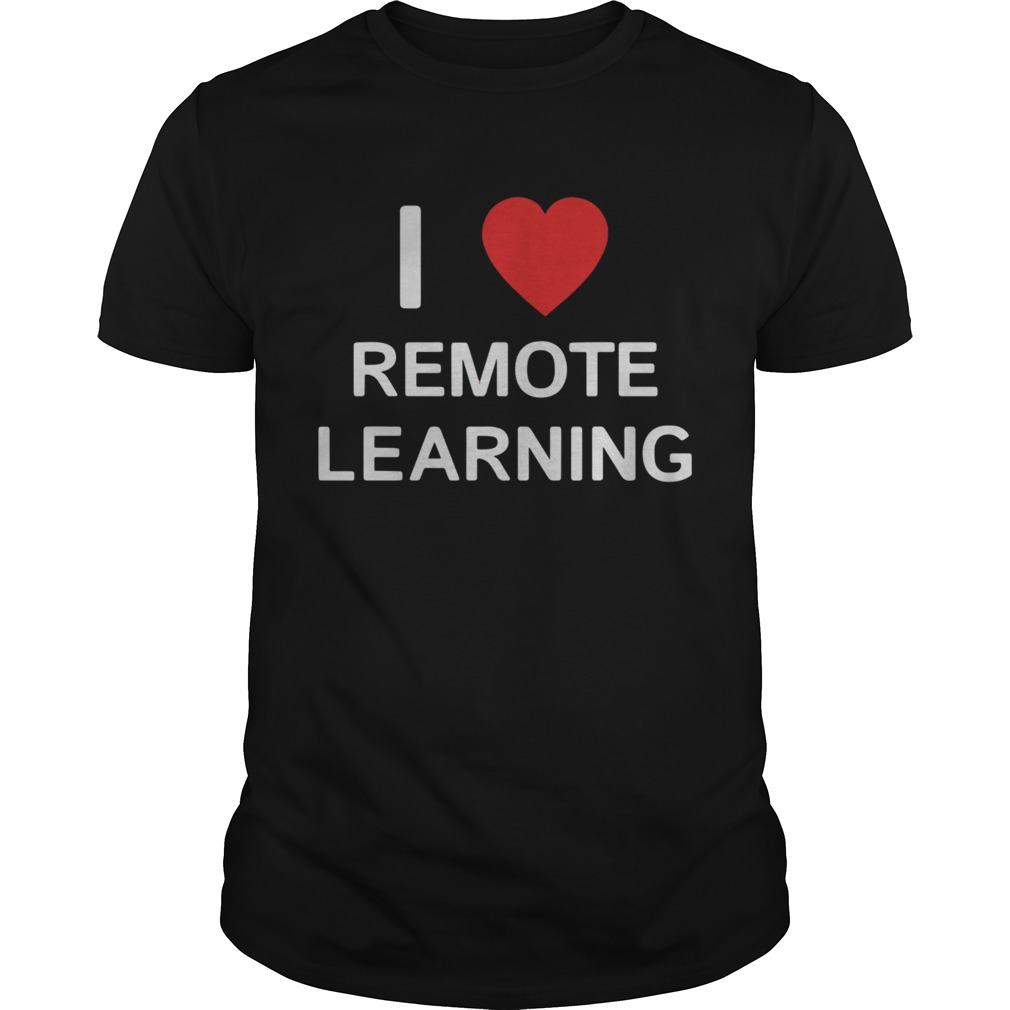 I Love Remote Online Learning Heart shirt Classic Men's