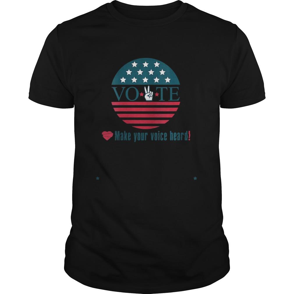 Make Your Voice Heard Vote Election Heart shirt Classic Men's