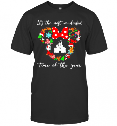 Merry Christmas Minnie Mouse It'S The Most Wonderful Time Of The Year shirt Classic Men's