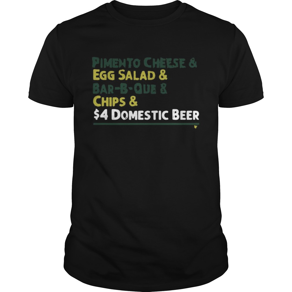 Pimento Cheese And Eff Salad And Barbque And Chips And 4 Domestic Beer shirt Classic Men's