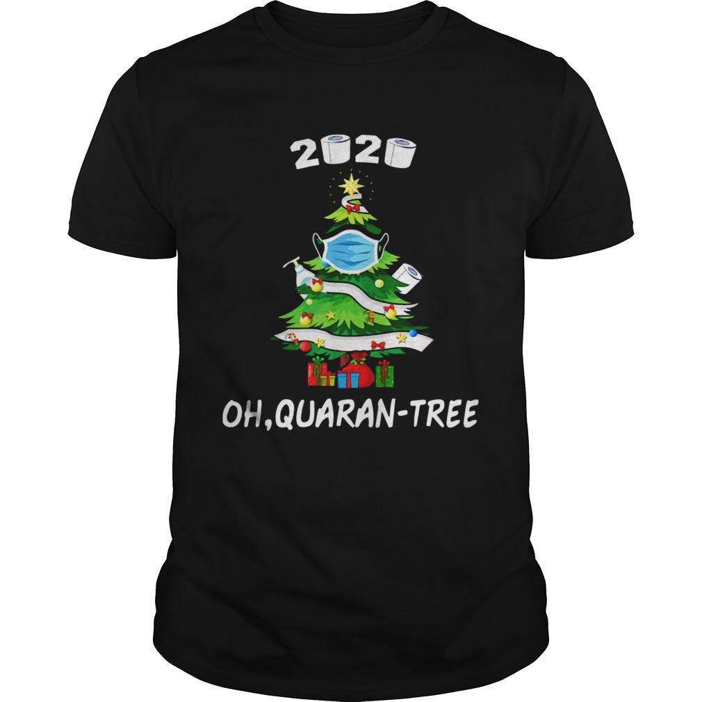 2020 Funny Quarantine Christmas Tree Ornament Mask shirt Classic Men's