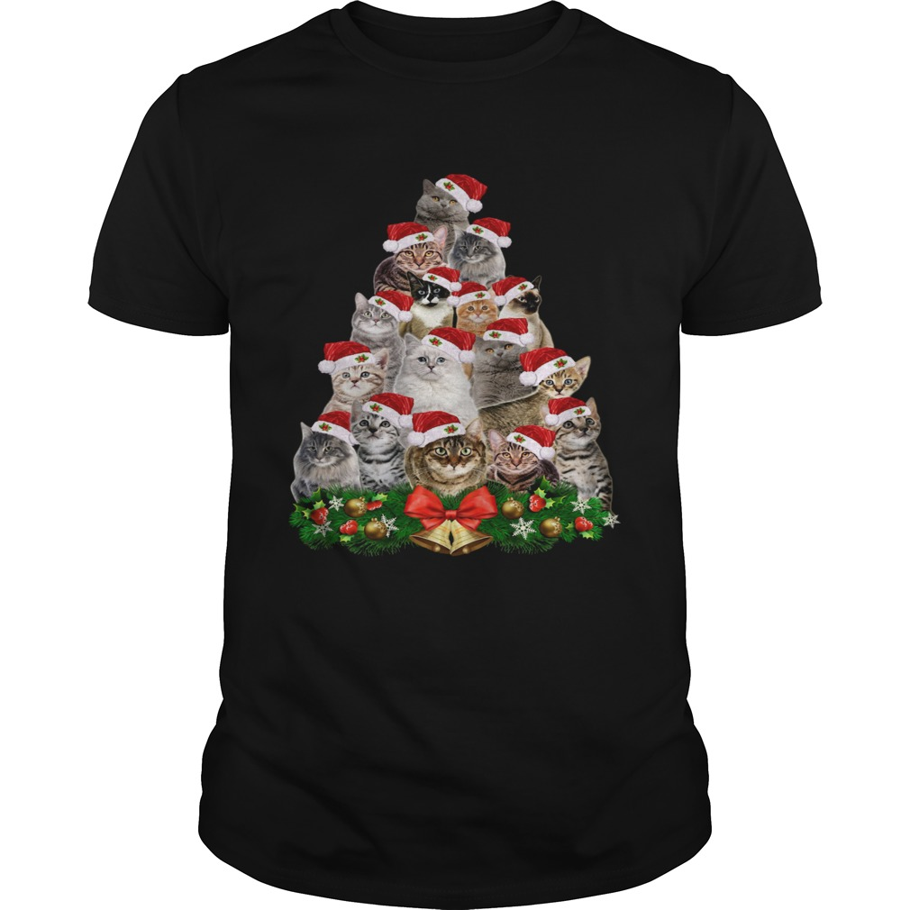 Cats And Christmas Tree shirt Classic Men's