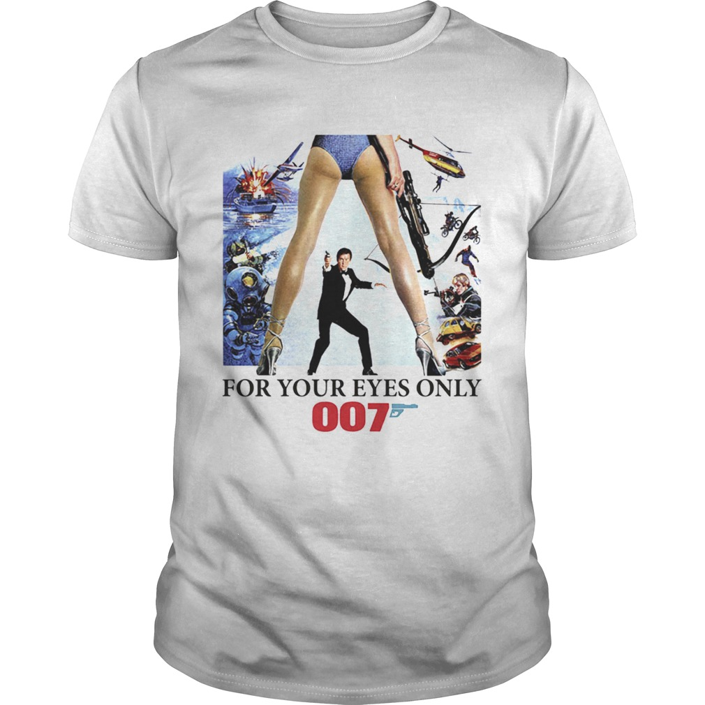 James Bond 007 For Your Eyes Only 1970s shirt Classic Men's