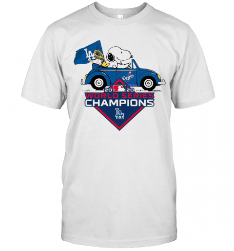 Snoopy And Woodstocks Los Angeles Dodgers 2020 World Series Champion shirt Classic Men's