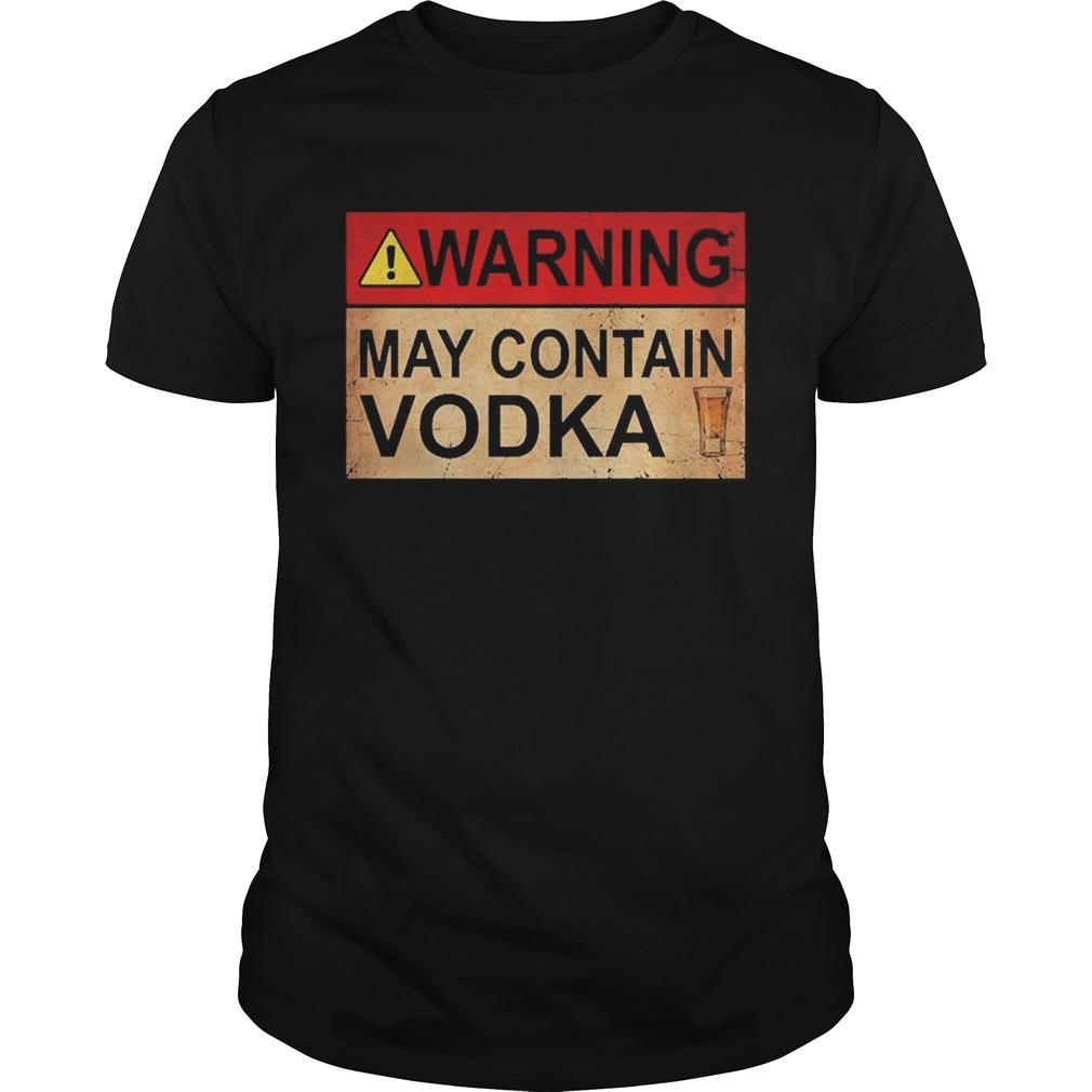 Warning May Contain Vodka Wine shirt Classic Men's