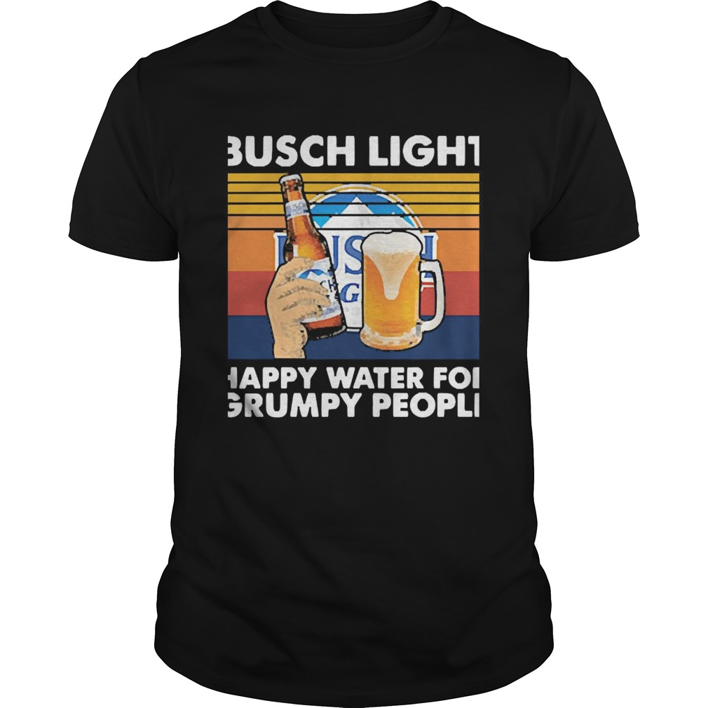 Busch Light Happy Water For Grumpy People Vintage shirt Classic Men's