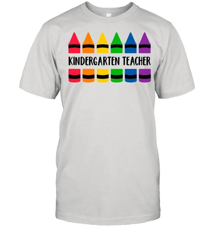 Crayon color kindergarten teacher shirt Classic Men's T-shirt