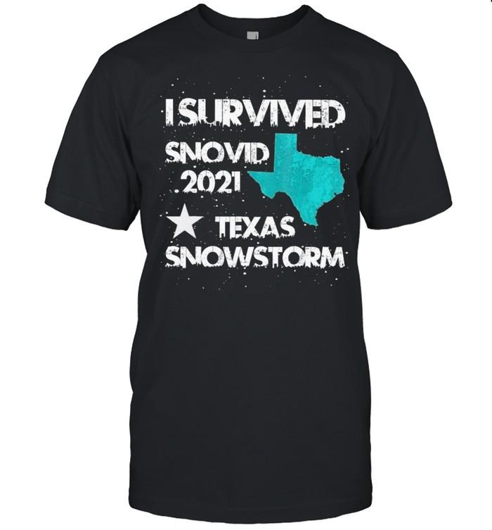 I Survived Snovid 2021 #Texas Snowstorm shirt Classic Men's T-shirt