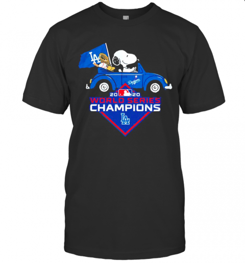 Snoopy Los Angeles Dogers 2020 Champions World Series shirt Classic Men's