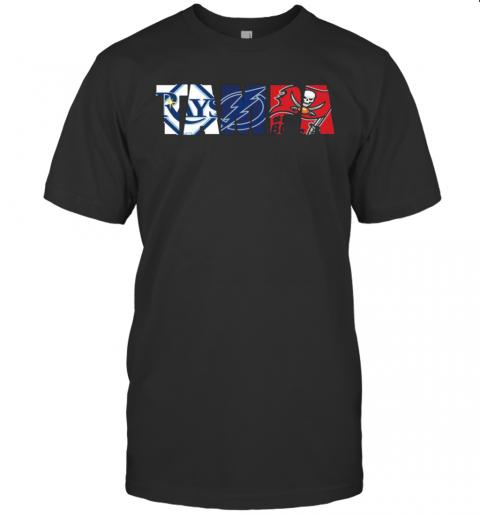 Tampa Sports Team Tampa Bay Rays Tampa Bay Lightning Tampa Bay Buccaneers shirt Classic Men's