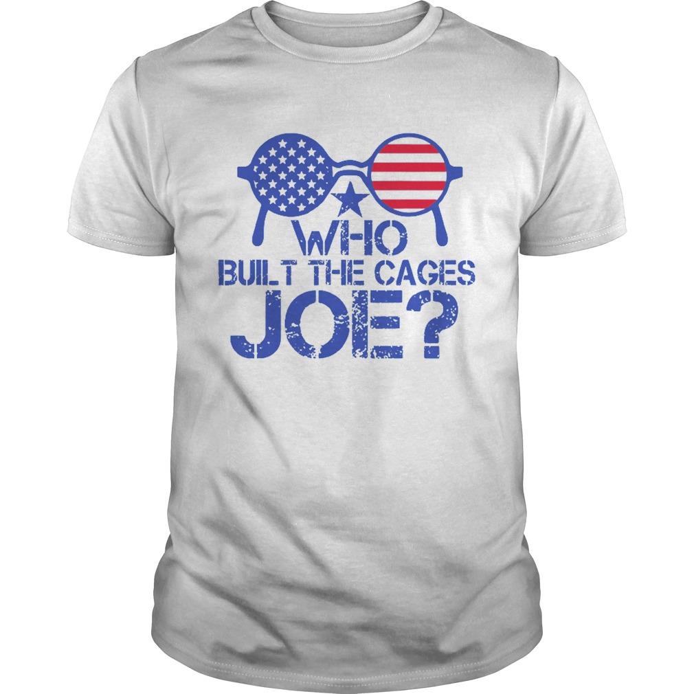 Who Built The Cages Joe Sunglasses American Flag shirt Classic Men's