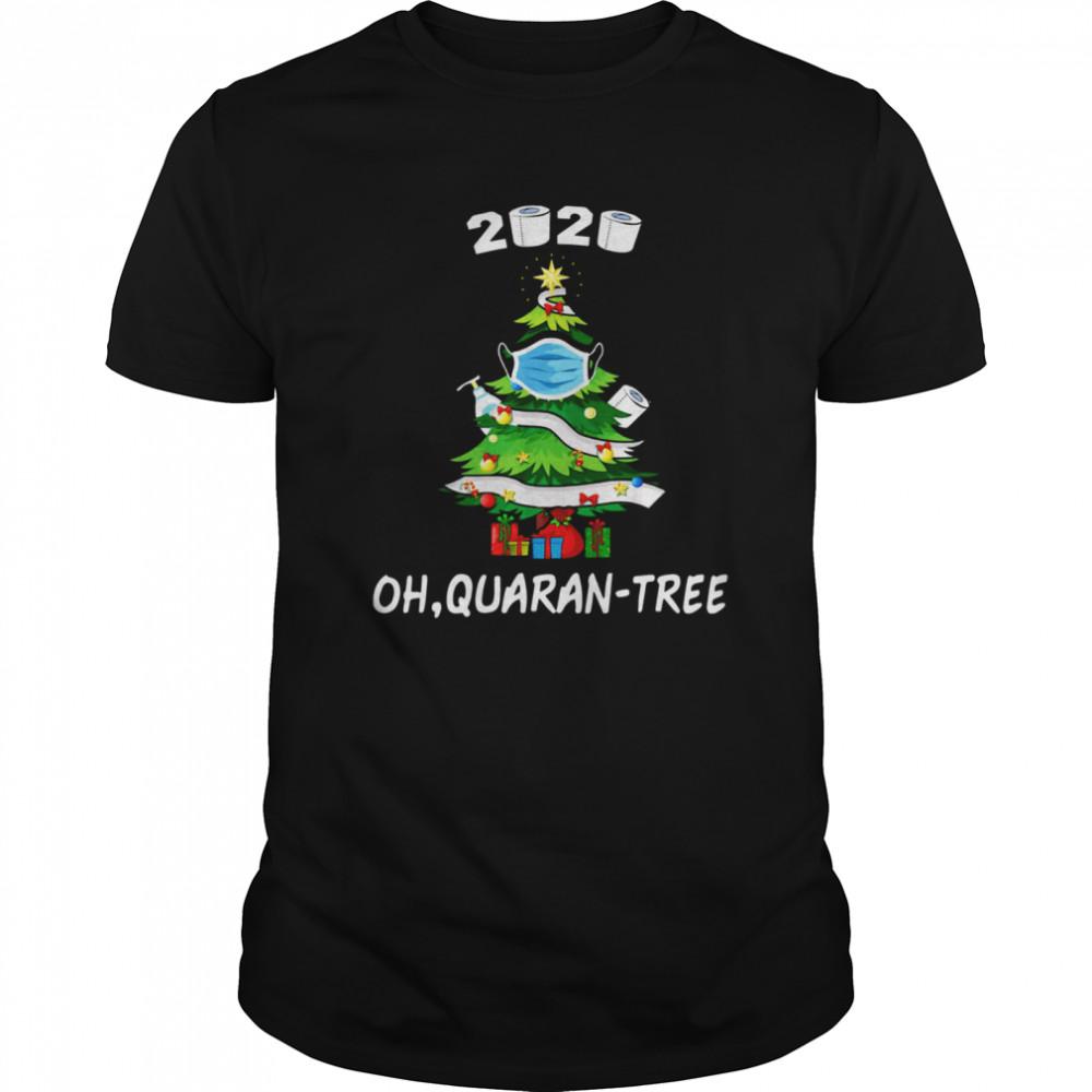 2020 Quarantine Christmas Tree Mask Ornament shirt Classic Men's