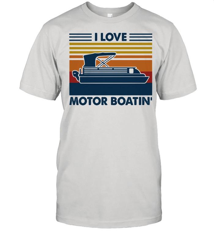 I Love Motor Boatin Vintage shirt Classic Men's T-shirt
