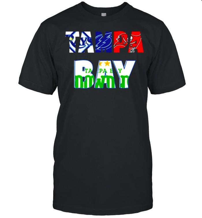 Mens 2021 Tampa Bay Rays Lightning Buccaneers Rowdies Football shirt Classic Men's T-shirt