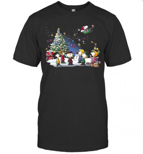 Lovely The Peanuts Light Merry Christmas shirt Classic Men's
