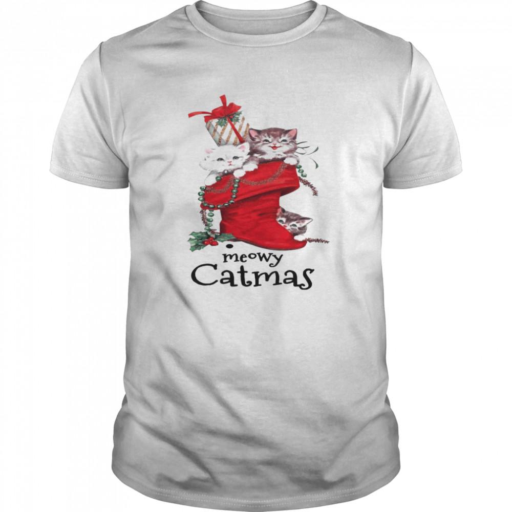 Meow Catmas Merry Christmas shirt Classic Men's