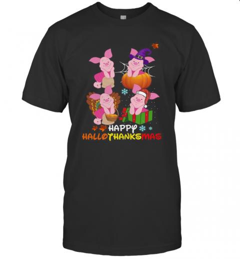 Piglets Disney Happy Hallothanksmas shirt Classic Men's