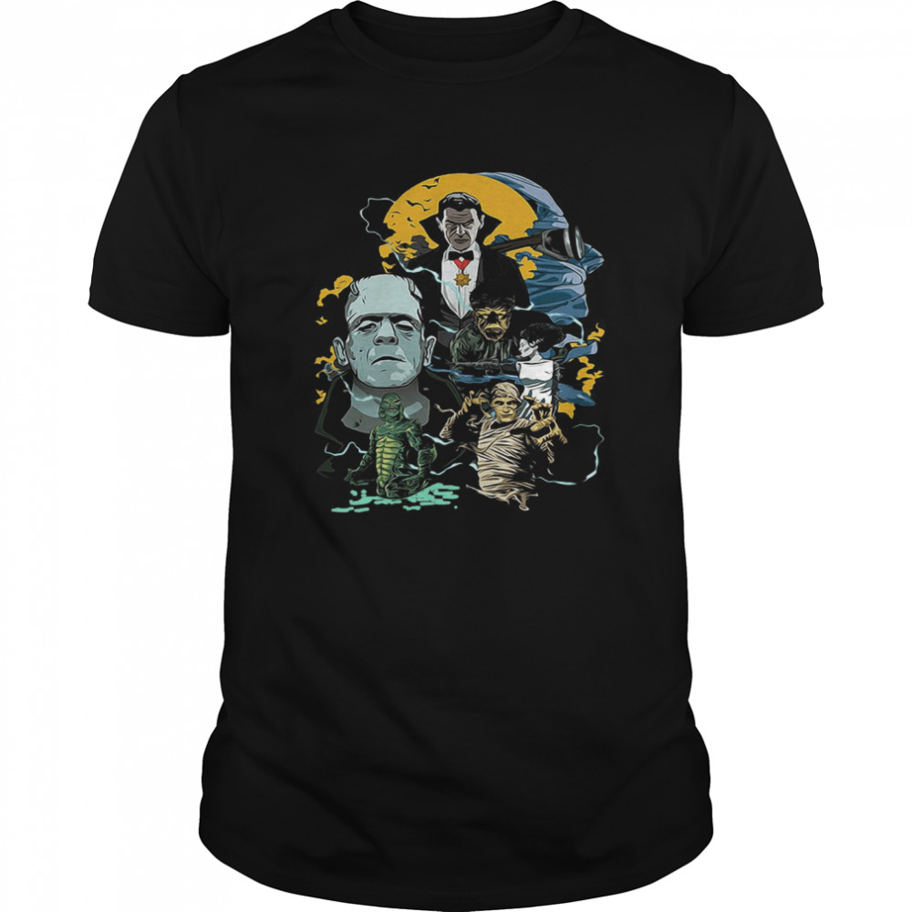Universal Monsters Collage shirt Classic Men's