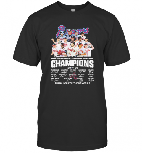 Atlanta Braves National League Championship Series Champions 2020 Thank You For The Memories Signatures shirt Classic Men's