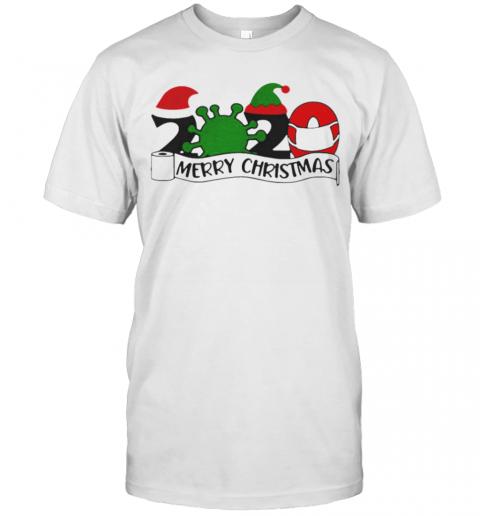 2020 Mask Quarantine Toilet Paper Merry Christmas shirt Classic Men's