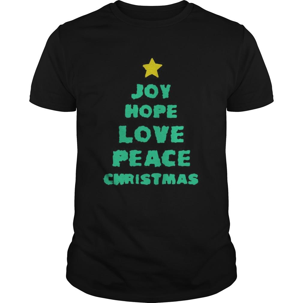 Joy Hope Love Peace Christmas shirt Classic Men's