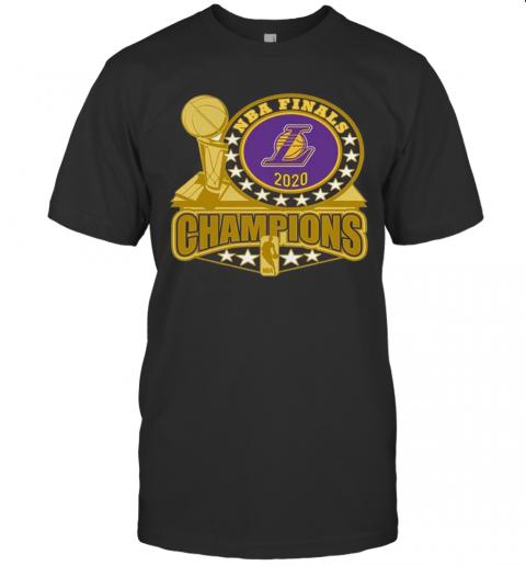 LA Lakers 2020 NBA Champions Trophy shirt Classic Men's