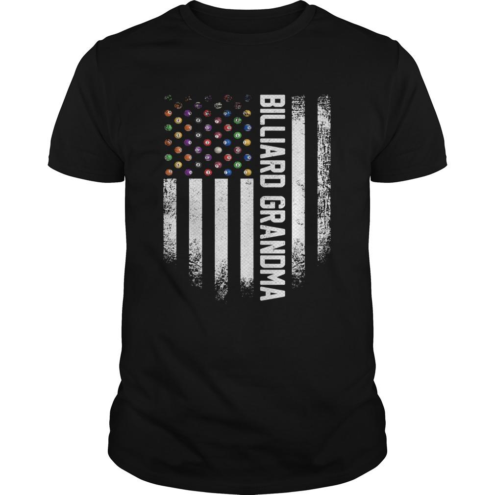 Vintage USA American Flag Pool Billiard Snooker Grandma shirt Classic Men's