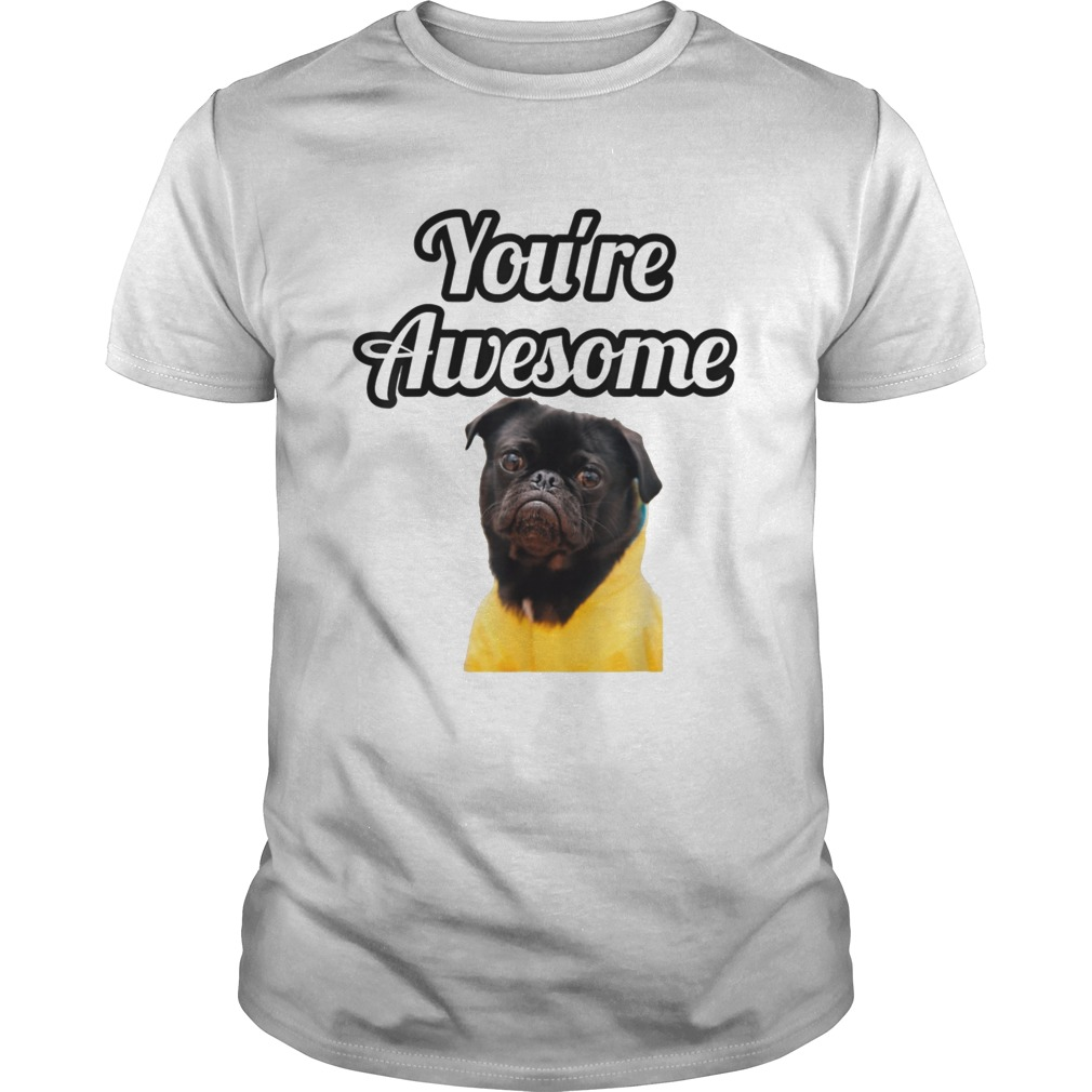Youre Awesome Little Puppy Pug shirt Classic Men's