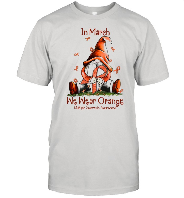 Gnome In March We Wear Orange Multiple Sclerosis Awareness shirt Classic Men's T-shirt