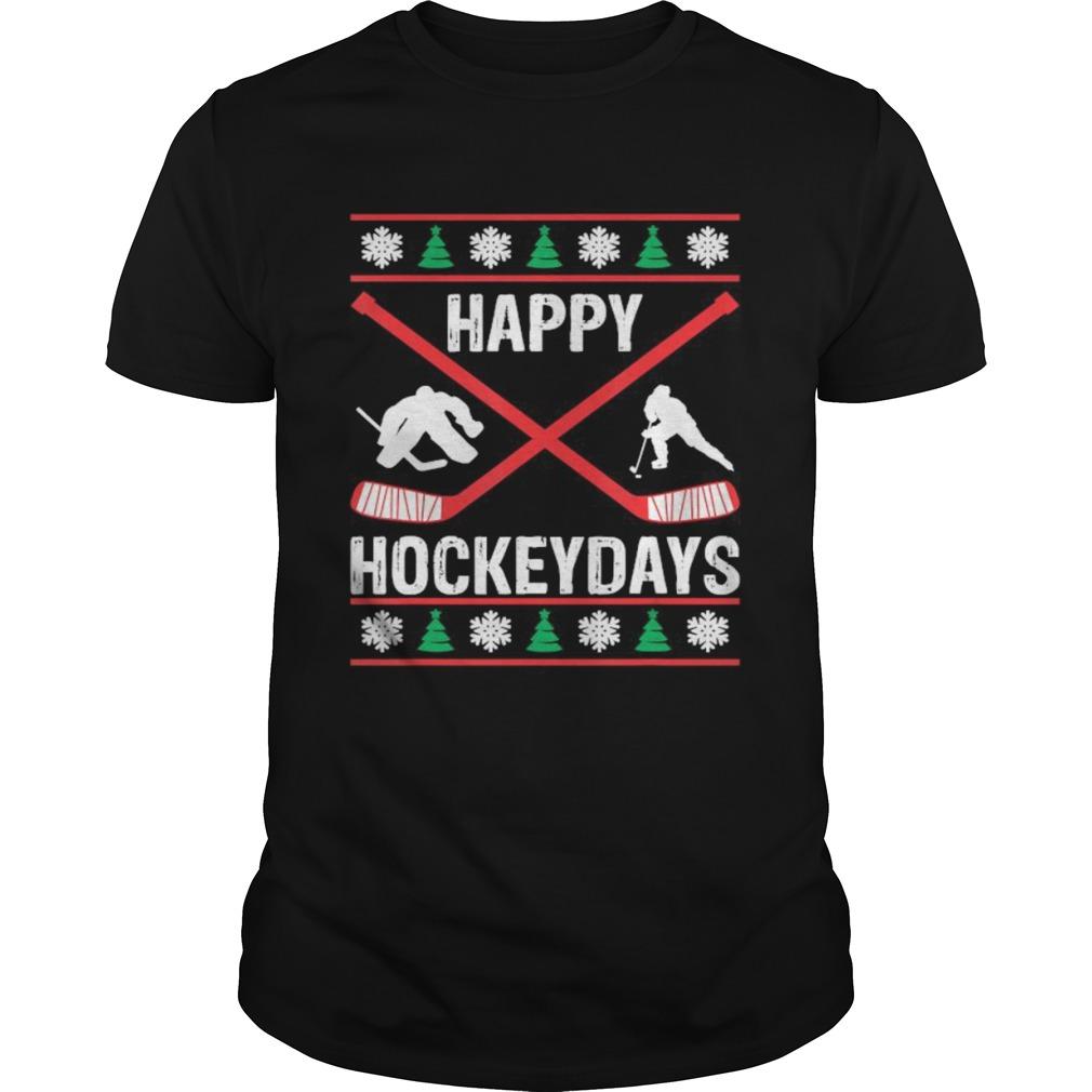 Hockey Player Sports Lover Christmas Holidays shirt Classic Men's